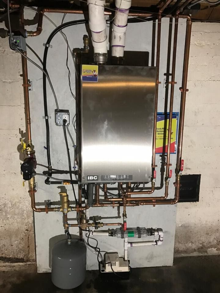 High Efficiency IBC Combination Gas Boiler as part of an oil to gas ...