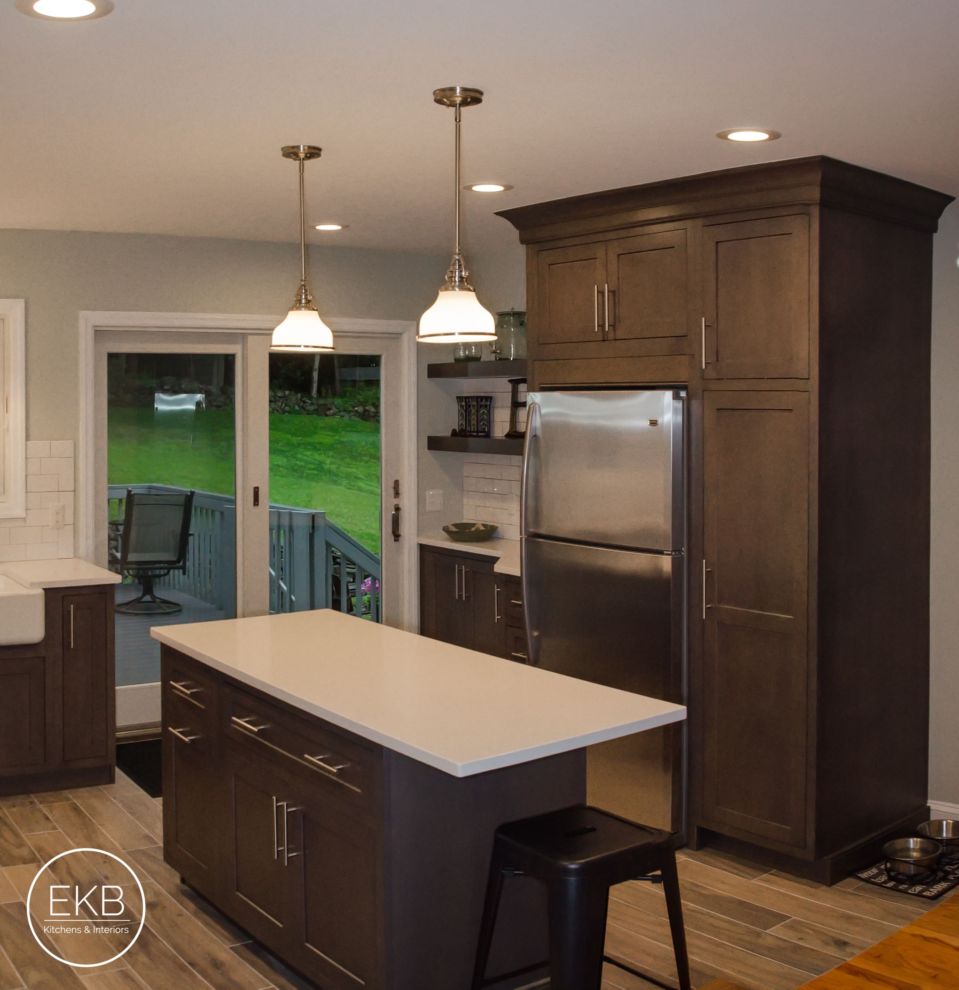 "Shiloh inset maple cabinets in ""Silas"" with a""Graphite ... on Maple Cabinets With White Countertops  id=82790"