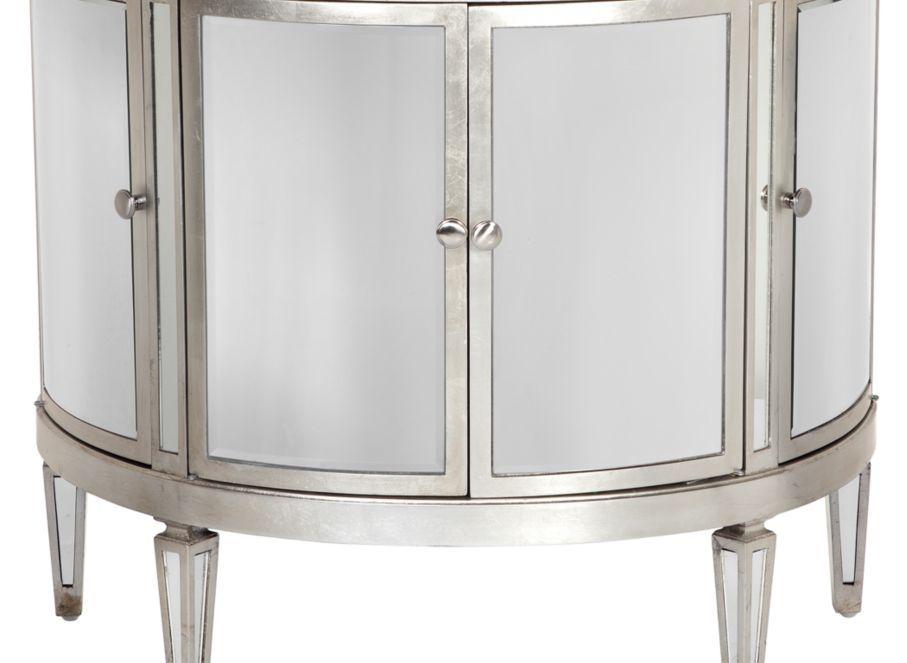 Demilune Mirrored Chest | Mirrored Furniture | Furniture | Z Gallerie