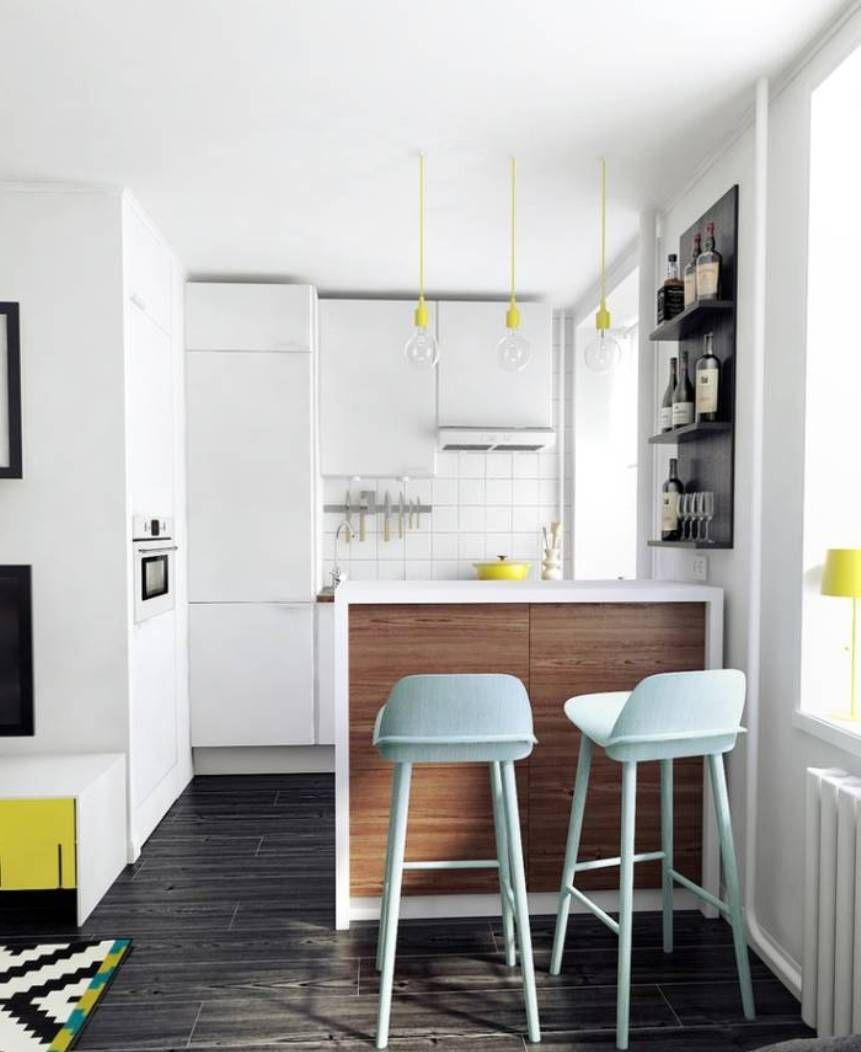 Stylish Small Apartment Kitchen Design  Architecture  Pinterest Gorgeous Kitchen Design Simple Small Review