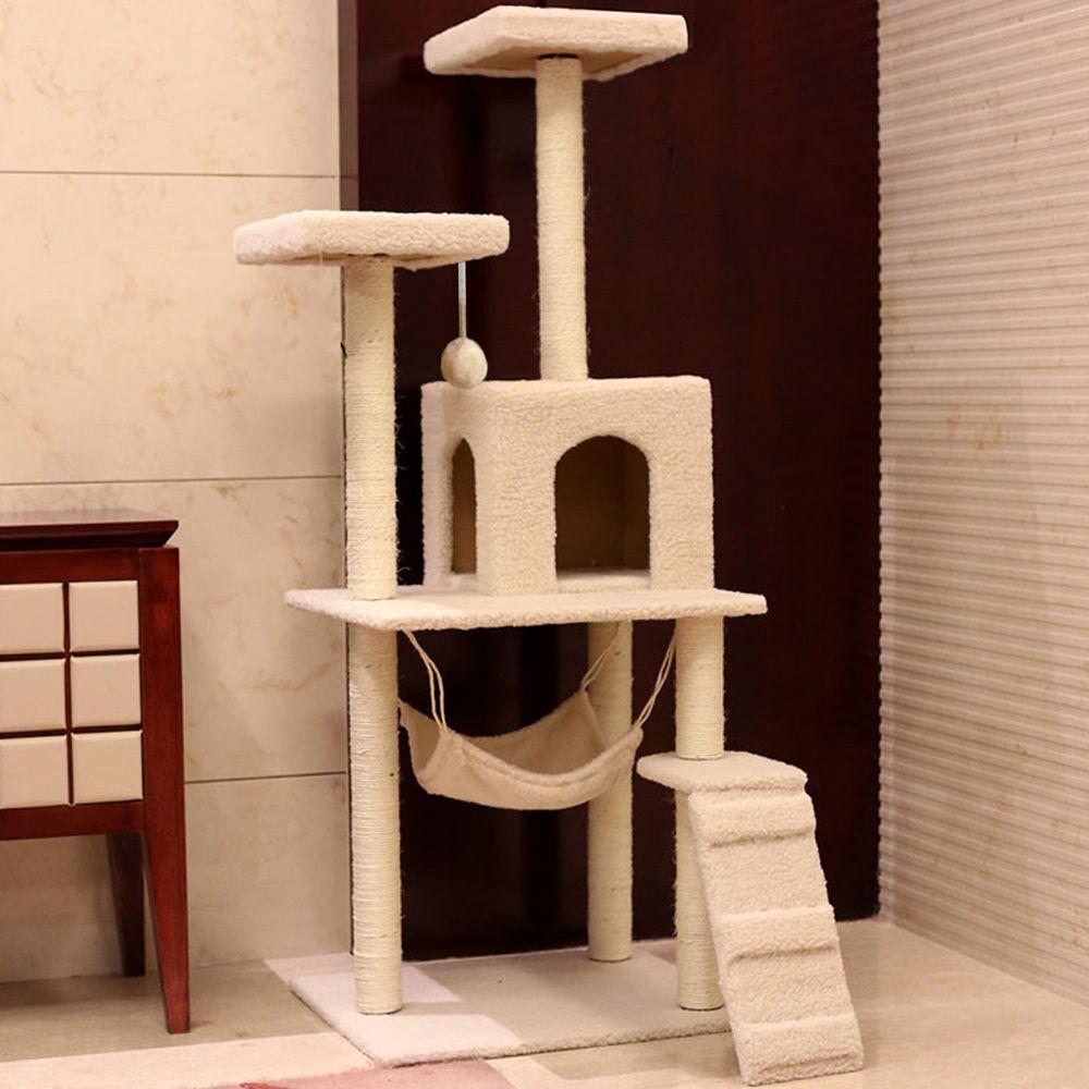 Superior Elegant DIY Cute Cat Tree Tower Condo Scratcher Furniture Felt Cats House  Hammock Pet House Wholesale