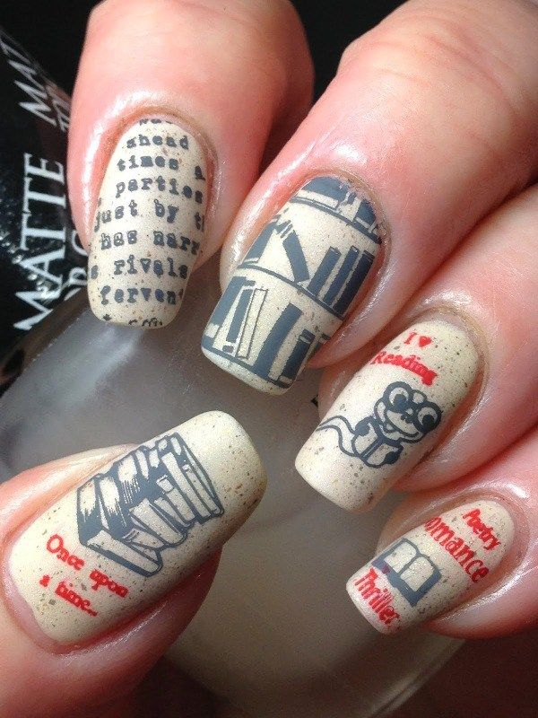 Unique DIY Newspaper Nail Art | Fabulous Nails | Pinterest ...