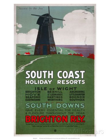 South Coast Holiday Resorts, LBSCR, c.1915 Posters - AllPosters.co ...