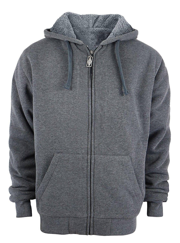Men S Hooded Sweatshirt Front Zip Fleece Hoodie With Split Kangaroo Pocket Grey04 Cj1872xsu6x Hooded Sweatshirt Men Mens Fleece Jacket Fleece Hoodie Jacket [ 1500 x 1113 Pixel ]