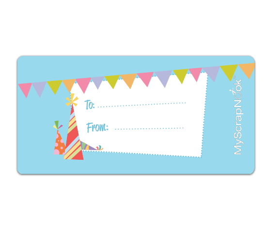 Download This Birthday Party Decoration Shipping Label And Other