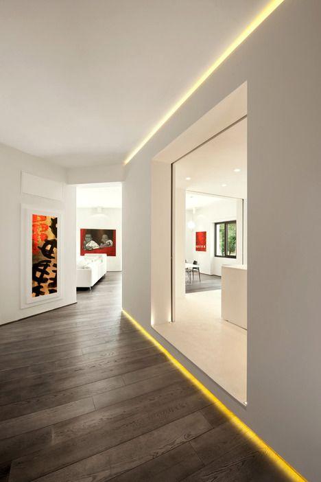 LED lys rundt i kanterne, god aftenbelysning - Celio Apartment by Carola Vannini Architecture