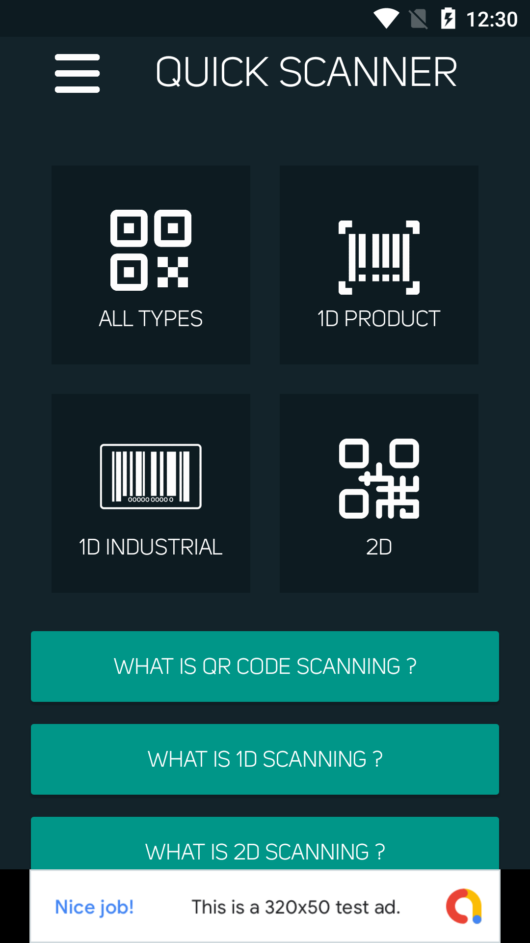 Quick Scanner QR Code & Barcode Scanner Android App
