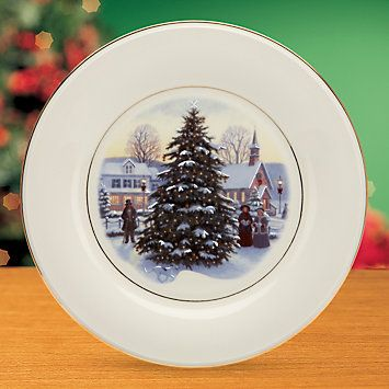 Victorian Christmas Plate by Lenox