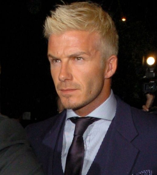 Image Result For David Beckham Bleached Hair