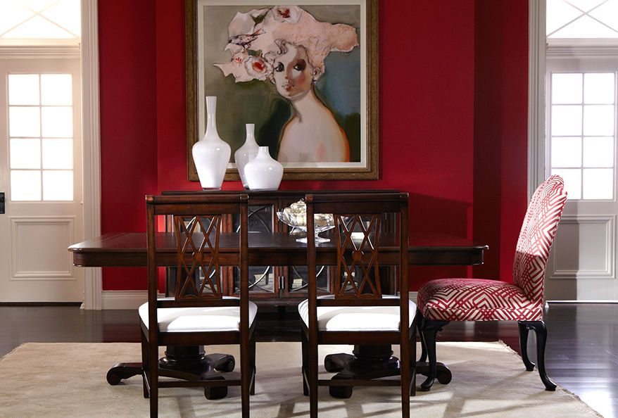 Red Dining Room Accessories: Ethan Allen Dining Room. Red Dining Rooms.