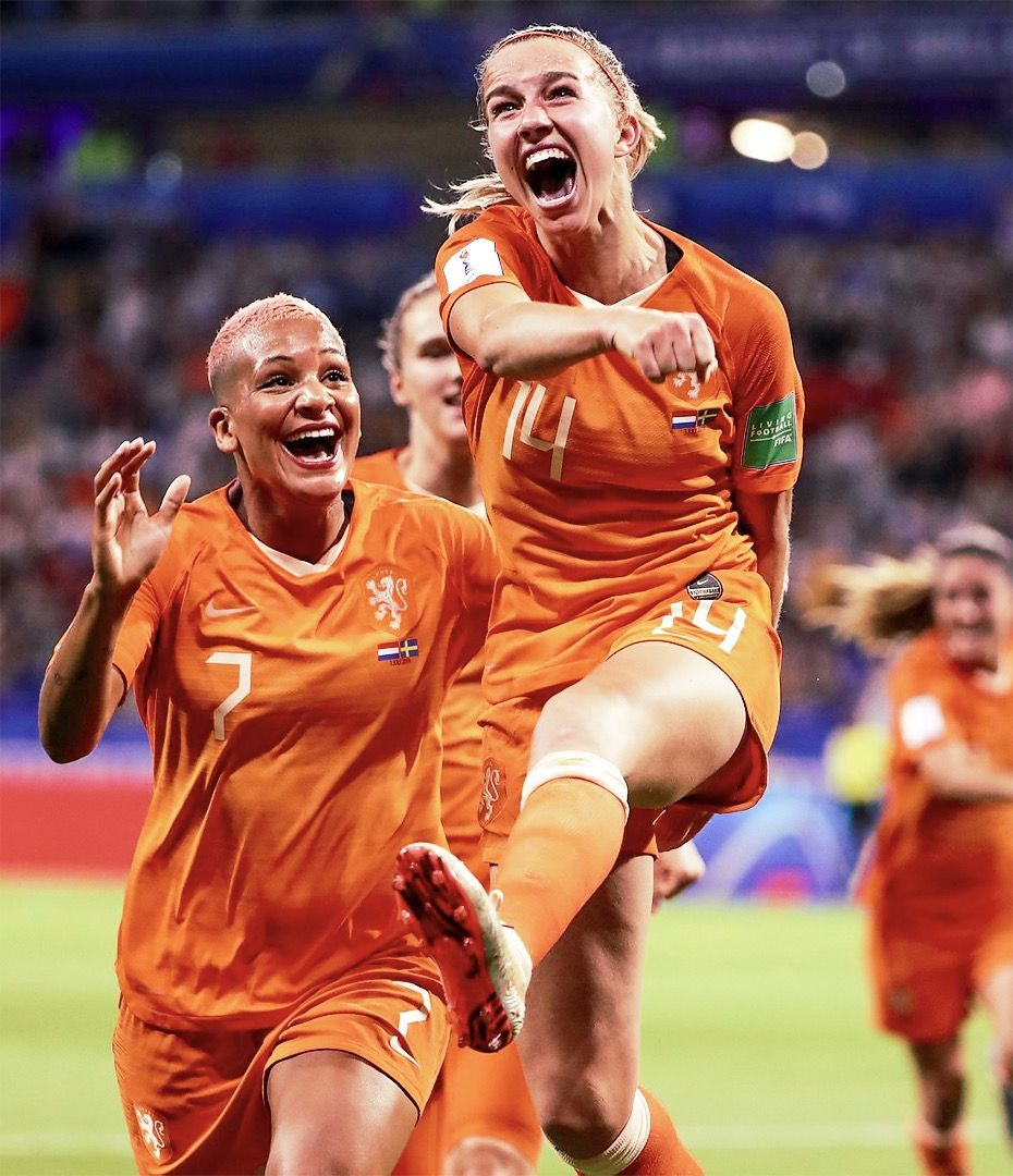 Shanice van de Sanden 7 and Jackie Groenen 14 of the