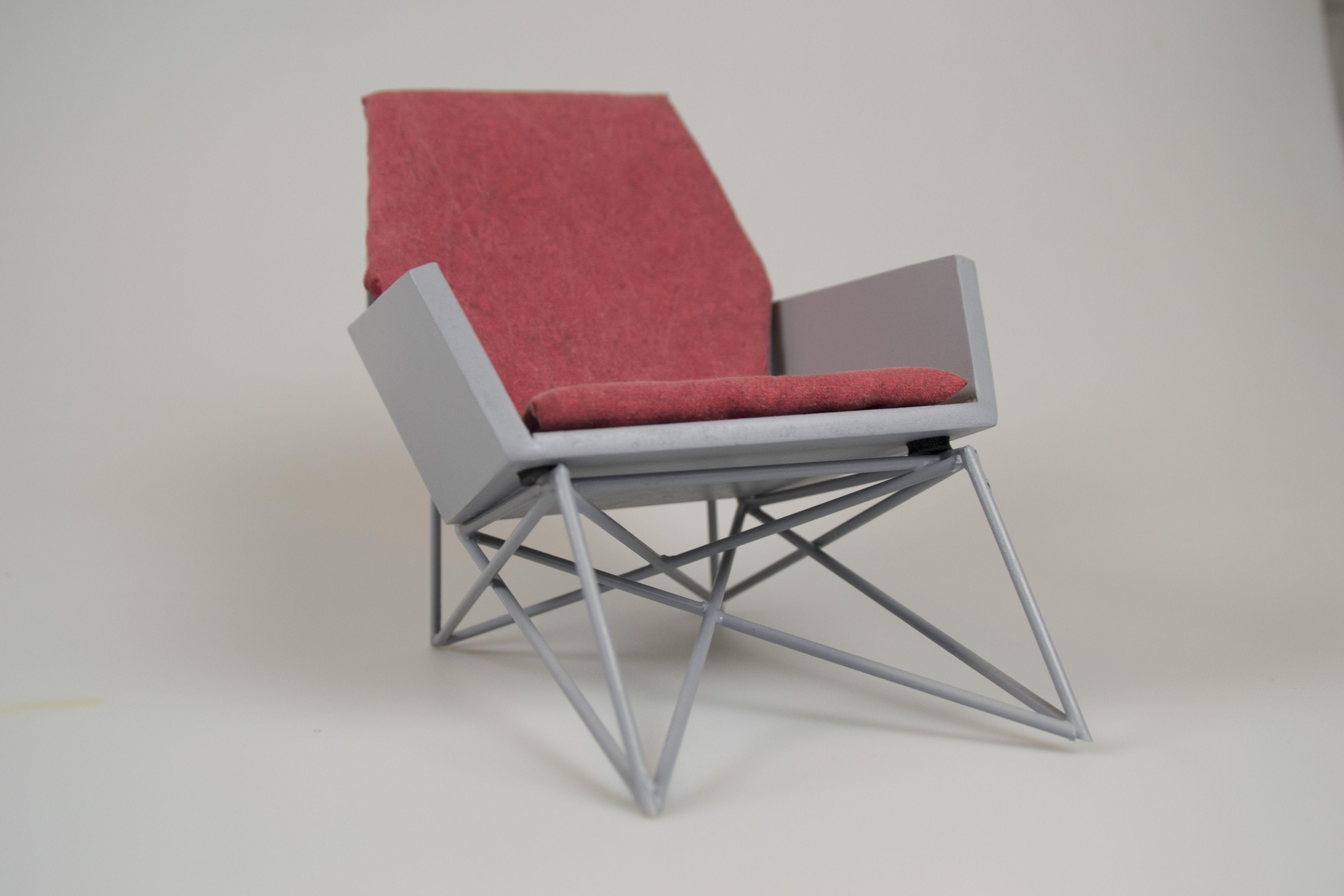 Hard goods chair scale model my work Pinterest