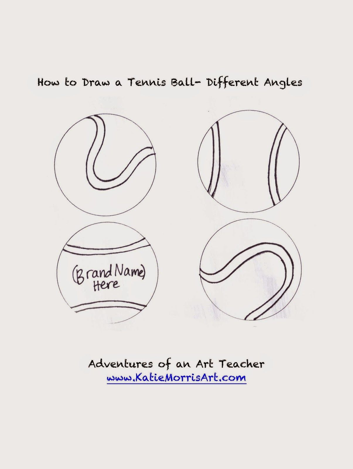 Adventures Of An Art Teacher How To Draw Sports Tennis Ball
