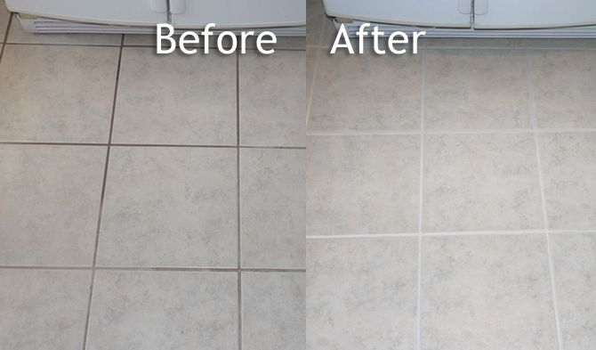 ColorSeal: Cleaning Grout, Coloring Grout and Sealing Grout: before ...