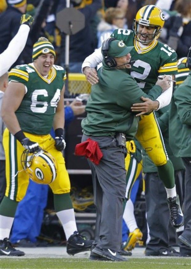 Aaron Rodgers Mike Mccarthy Greg Van Roten Ooh Mike Who Knew You Were So Buff I Am Impressed Aaron Rodgers Mike Mccarthy Green Bay Packers