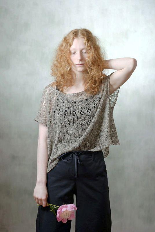 Пуловер оверсайз с описанием от японского дизайнера Мидори.   Knit ...