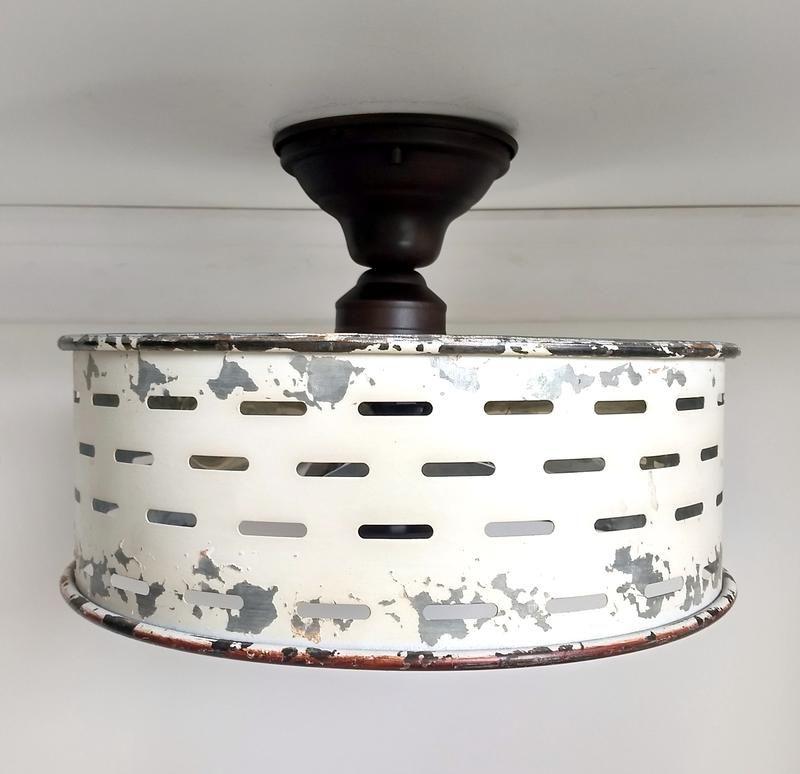 rustic galvanized ceiling light