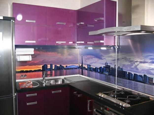 kitchen idea of the day: a printed glass backsplash. see more