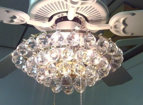 Acrylic Crystal Chandelier Type Ceiling Fan Light Kit Chandelier