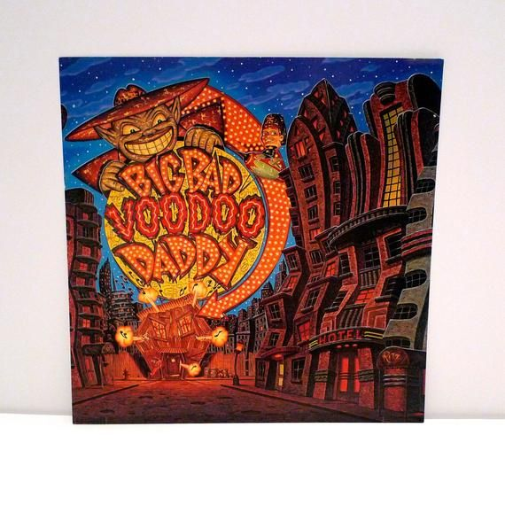 Big Bad Voodoo Daddy Poster Flat 1998 Vintage Record Store
