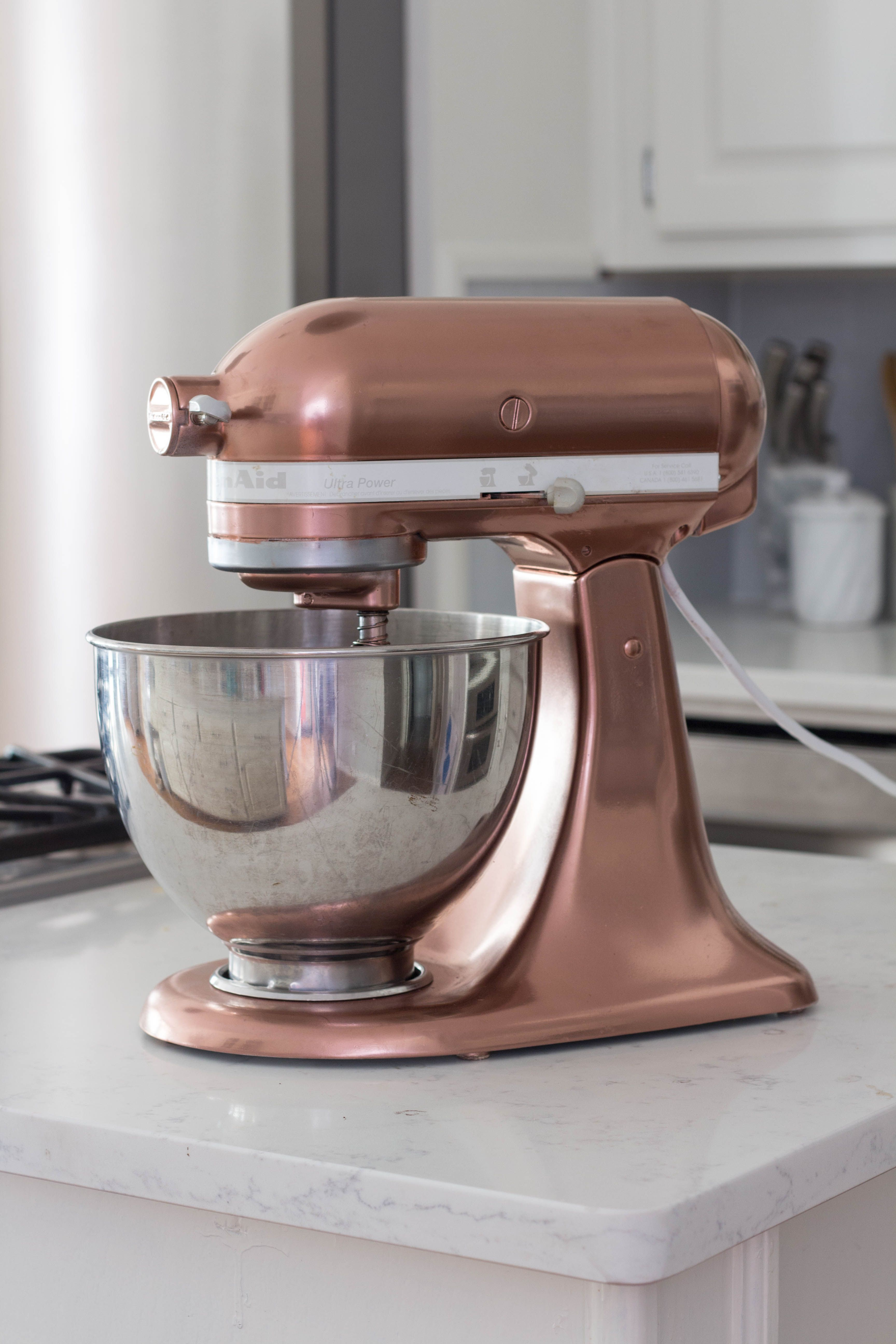 Copper Spray Painted Kitchenaid Mixer Paint Kitchenaid Mixer Copper Spray Paint Copper Kitchen Aid