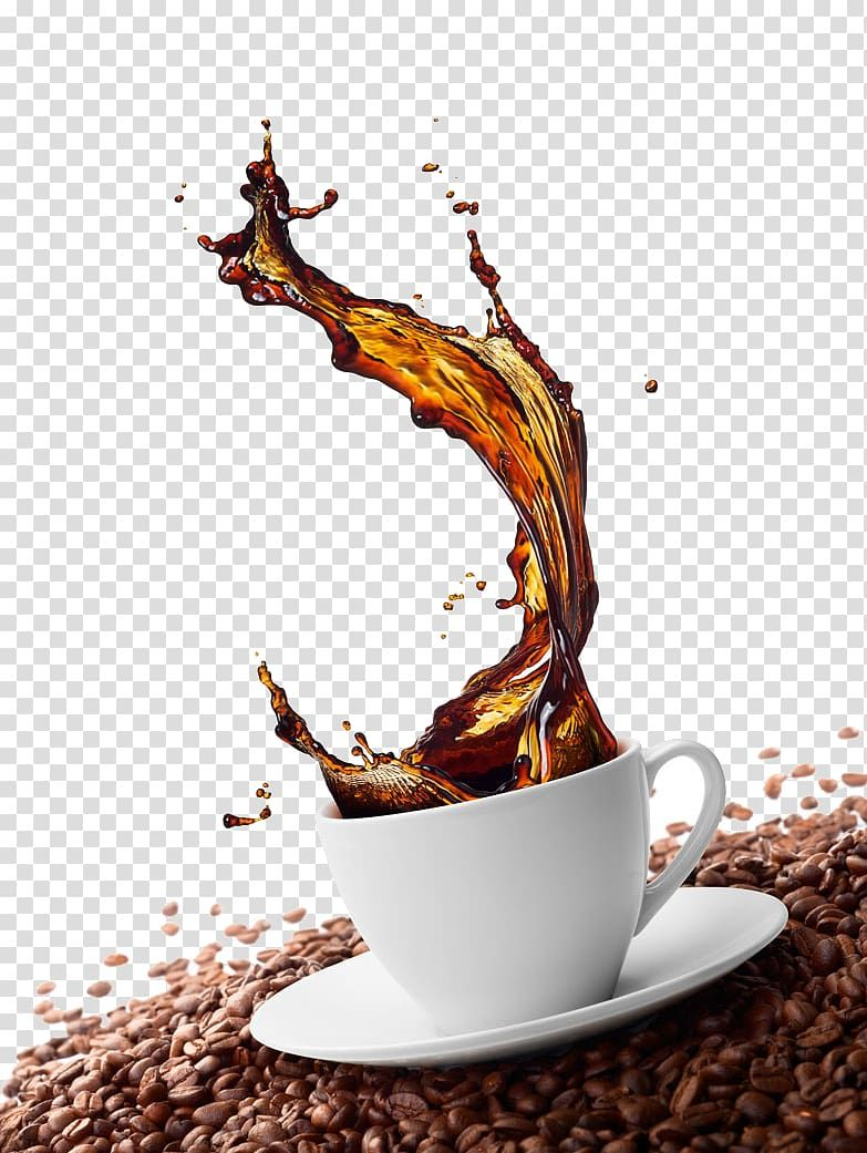 Green Coffee Cappuccino Cafe Coffee Bean Coffee Splash Effect Cappuccino Cafe Coffee Art Coffee Png