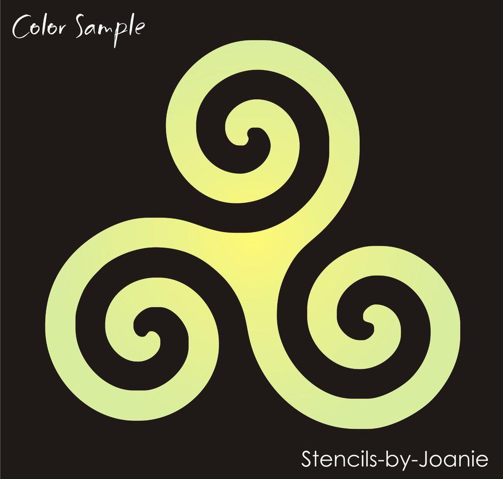 Stencil triskele triple spiral wall art celtic symbols stencil triskele triple spiral wall art celtic symbols buycottarizona Images
