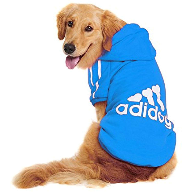 Fleece Basic Hoodie Sweater Cotton Jacket Sweat Shirt Coat for Small Dog /& Medium Dog /& Cat Rdc Pet Adidog Dog Hoodies Apparel Navy Blue,M