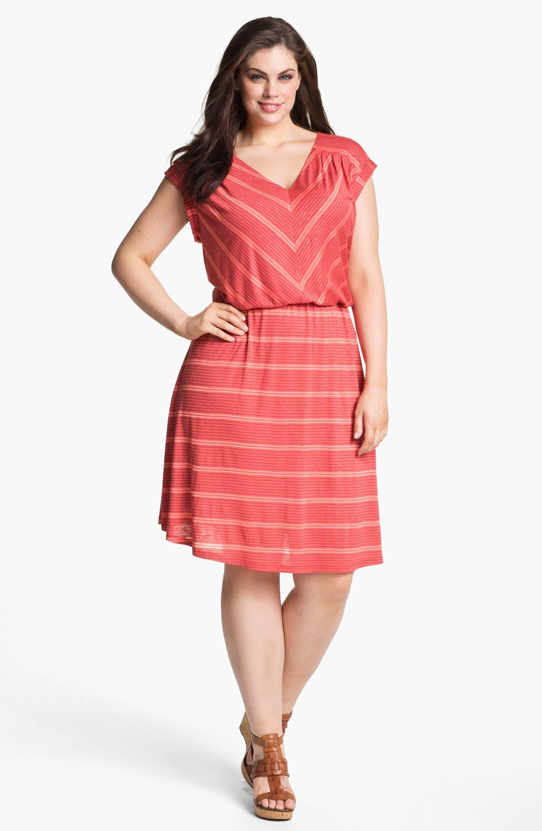 Olivia Moon Striped Jersey Dress (Plus Size)   Nordstrom   My Style ...
