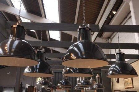 Suspension industrielle loft lampes pinterest suspension industriel et luminaires - Lampe suspension industrielle ...