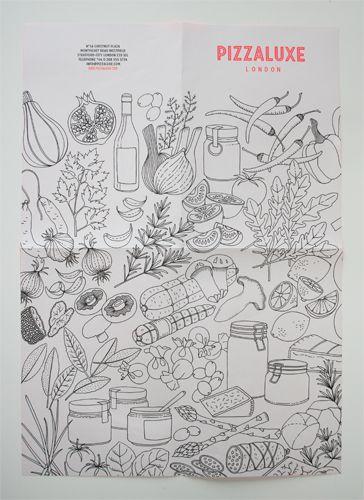 PizzaLuxe artwork by Johanna Basford