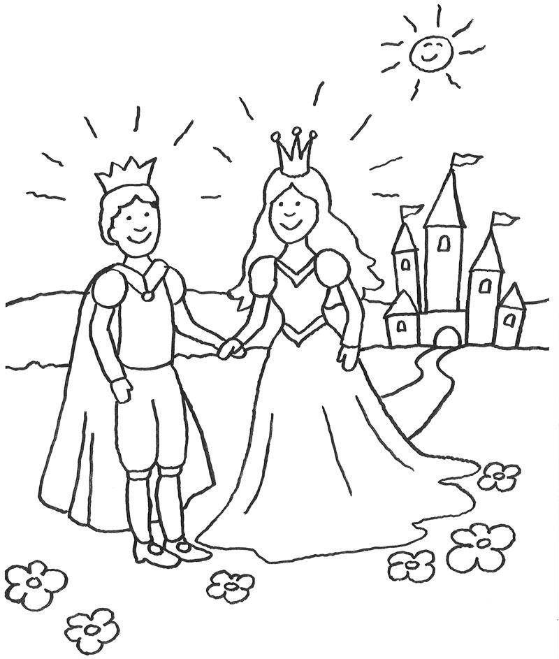 Kinder Lieben Marchen Die Prinzessin Und Der Prinz Vor Dem Marchenschloss Auf Dieser Kostenl Malvorlage Prinzessin Ausmalbilder Prinzessin Ausmalbilder Kinder