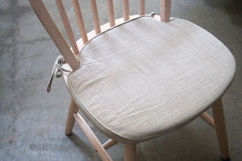 Diy Linen Seat Cushion Kitchen Chair Cushions Dining
