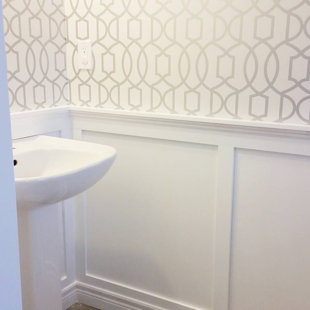 Powder Room Board And Batten Wallpaper …