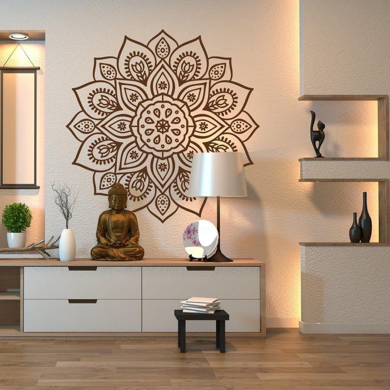 Mandala Wall Art Decal for Indoor & Outdoor Use – Mandala Wall Sticker, Mandala Car Decal, Boho Mandala Wall Decor Home Studio Window