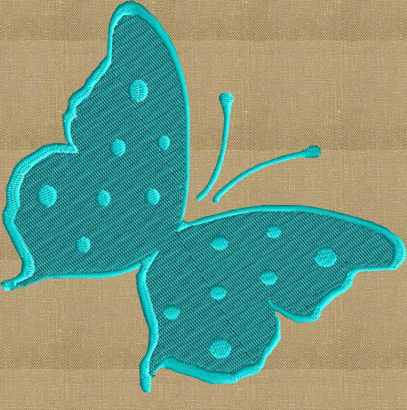 Butterfly EMBROIDERY DESIGN file Instant download Exp