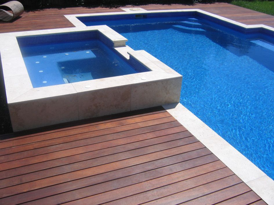 Swimming pool deck ideas pool side pinterest for Wood pool deck design