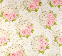 Girly Vintage Wallpaper Shabby Chic Paper Pattern Floral