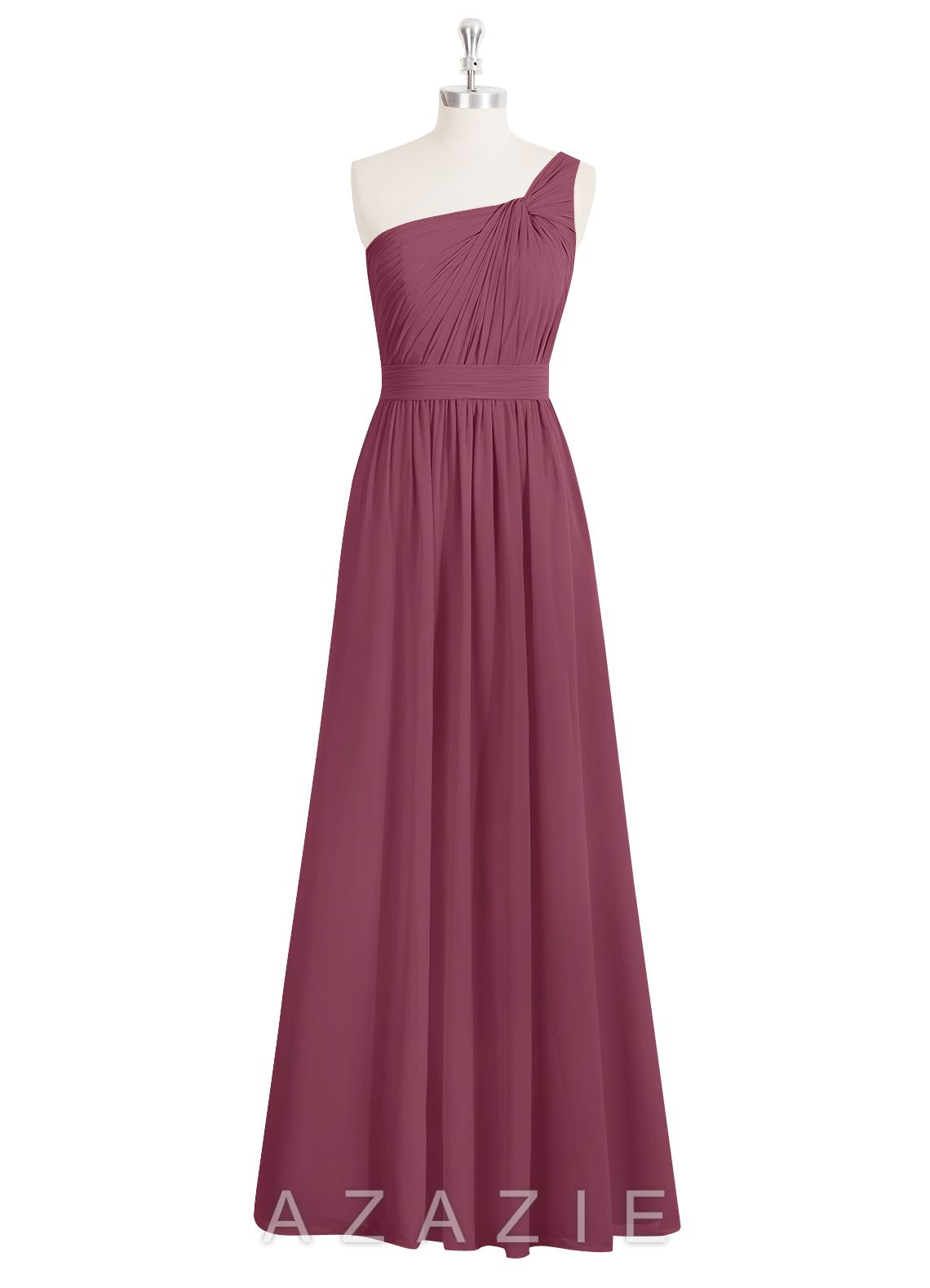 AZAZIE EVE. The fashionable floor-length bridesmaid dress by Azazie has an A-line/princess cut in a fabulous chiffon. #Mulberry #Bridesmaid #Wedding #CustomDresses #AZAZIE