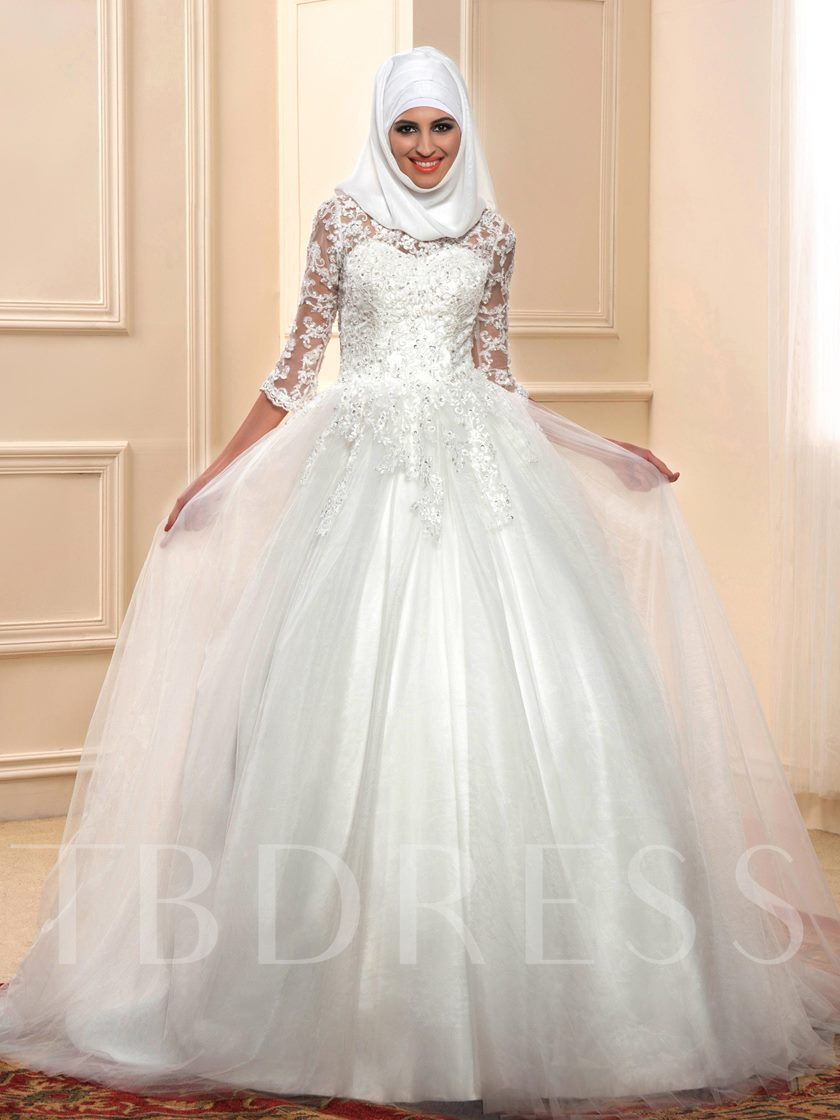 Click to see this appliques 34 length sleeve muslim