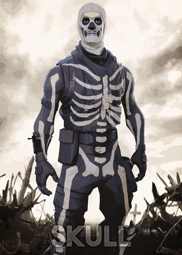 "Fortnite Character Poses Skull #Displate explore Pinterest""> #Displate artwork by artist ""Durro Art"". Part… | Displate thumbnail"