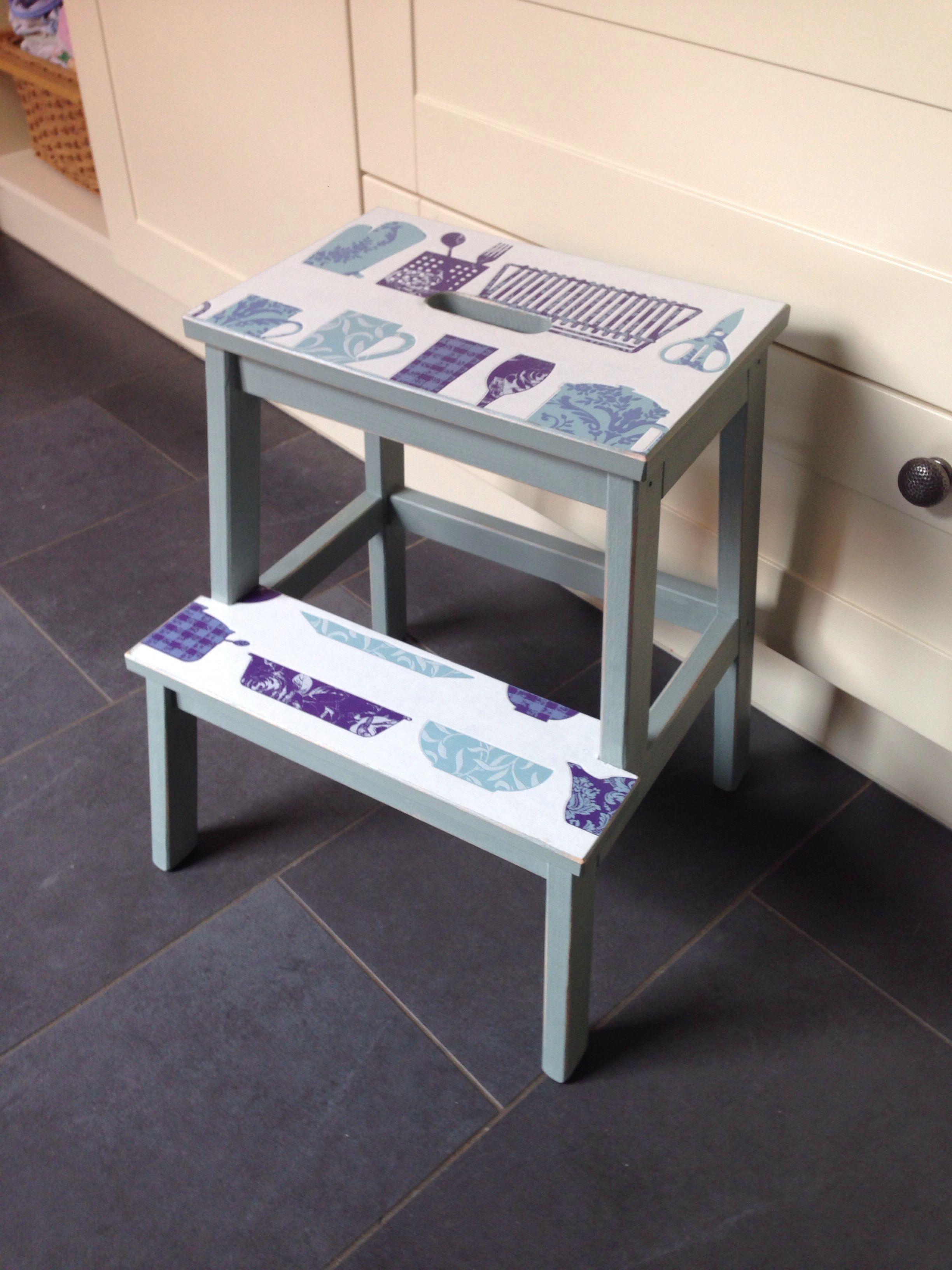 Standard ikea foot stool transformed using as 39 duck egg - Silla huevo ikea ...