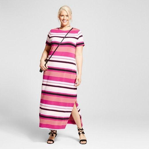 7572c41d9d6 Women s Plus Size T-Shirt Maxi Dress - Ava   Viv™   Target
