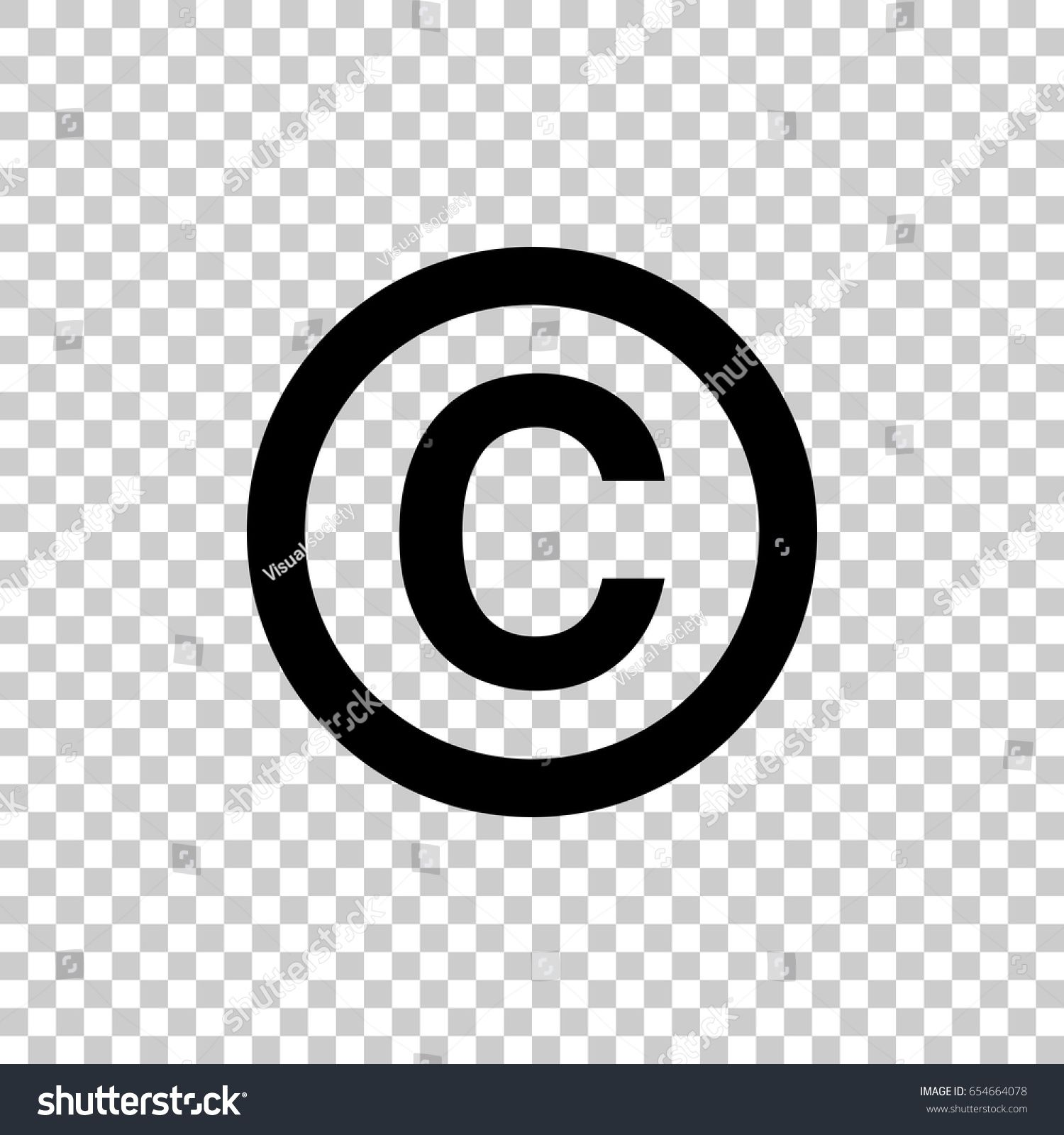 Copyright Symbol Isolated On Transparent Background Black Symbol For Your Design Vector Illustration Easy In 2020 Transparent Background Symbols Forest Illustration