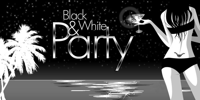Black n white · swimming pool parties