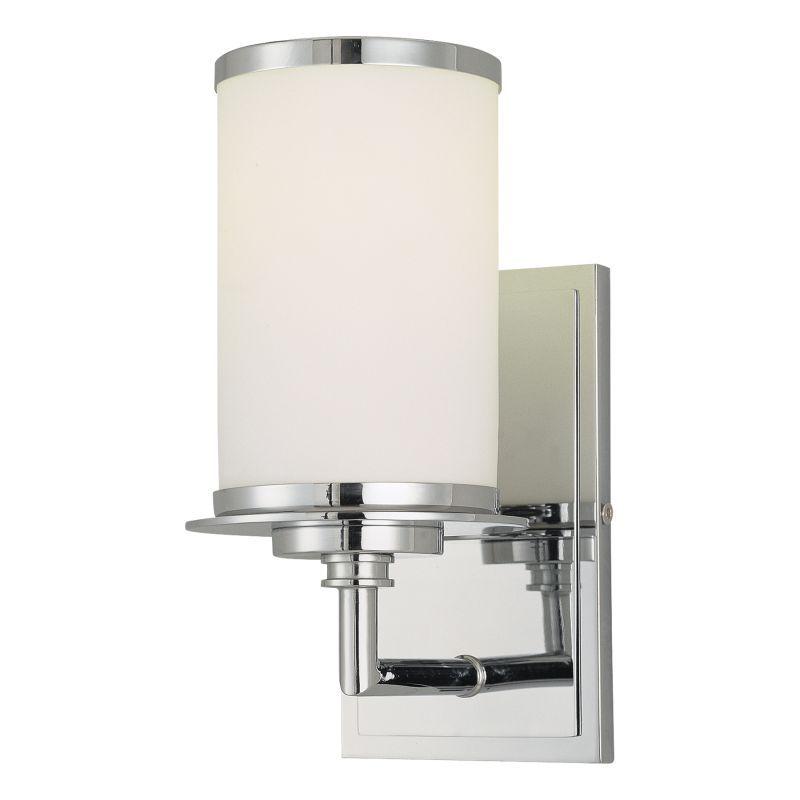 Minka Lavery 3721 1 Light 9 75 Height Energy Star Bathroom Sconce Chrome Indoor Lighting