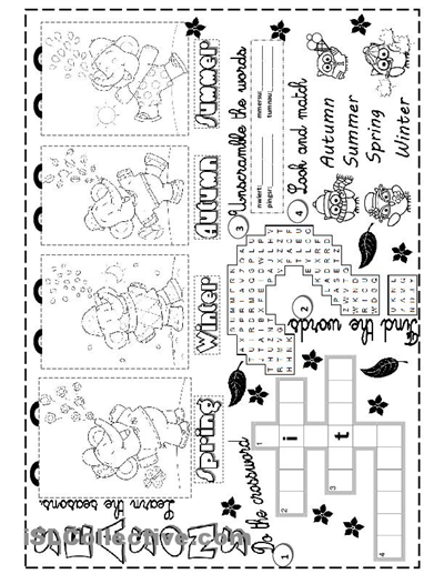 seasons worksheet - Free ESL printable worksheets made by teachers ...