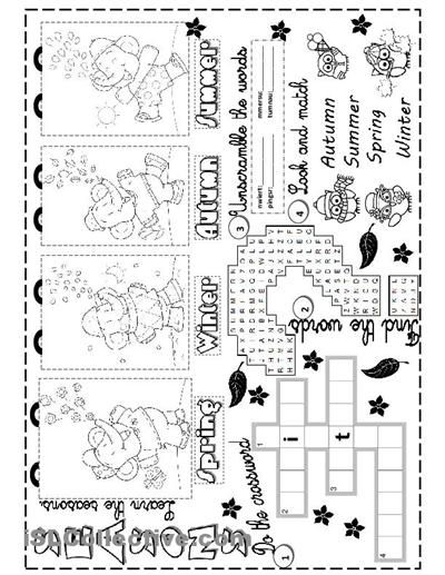 seasons Seasons worksheets, Writing elementary school