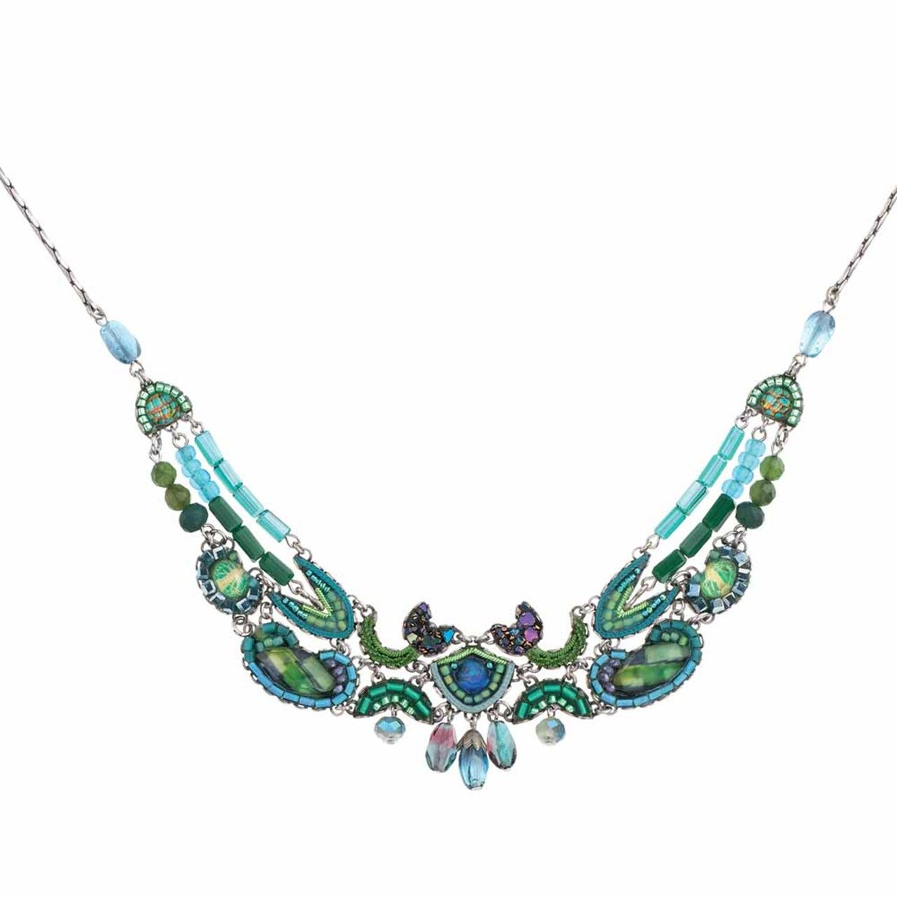 Ayala Bar Green River Delicate Rapids Necklace Emerald Green Jewelry Green Jewelry Bar Jewelry