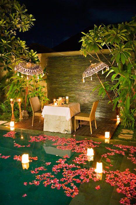 Romantic Pool British Colonial 2 Pool Wedding Decorations Pool